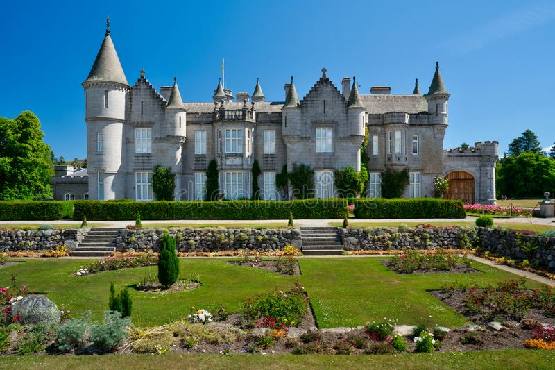 Castello di Balmoral, residenza reale, Scozia fotografia stock libera da diritti