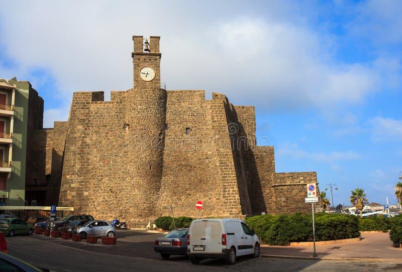 Castello di Barbacane,潘泰莱里亚 图库摄影