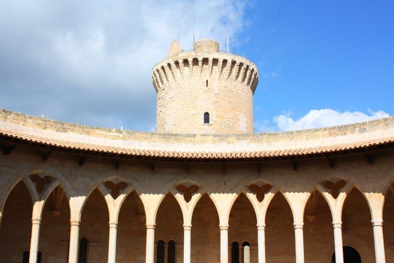 Castello di Bellver fotografia stock libera da diritti