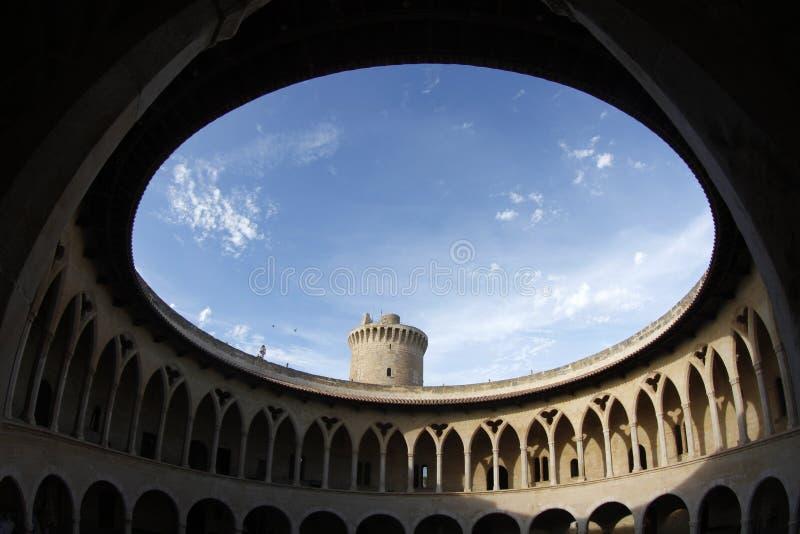 Castello 002 di Bellver immagini stock libere da diritti