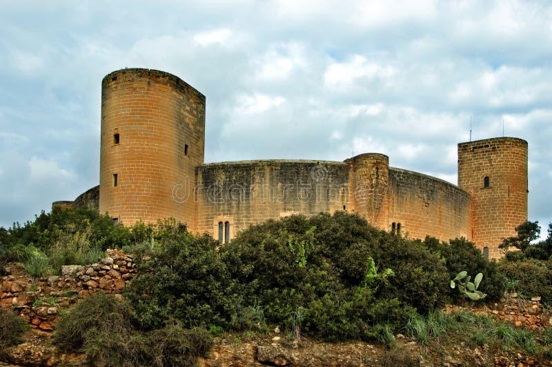Castello di Bellver, Mallorca fotografia stock
