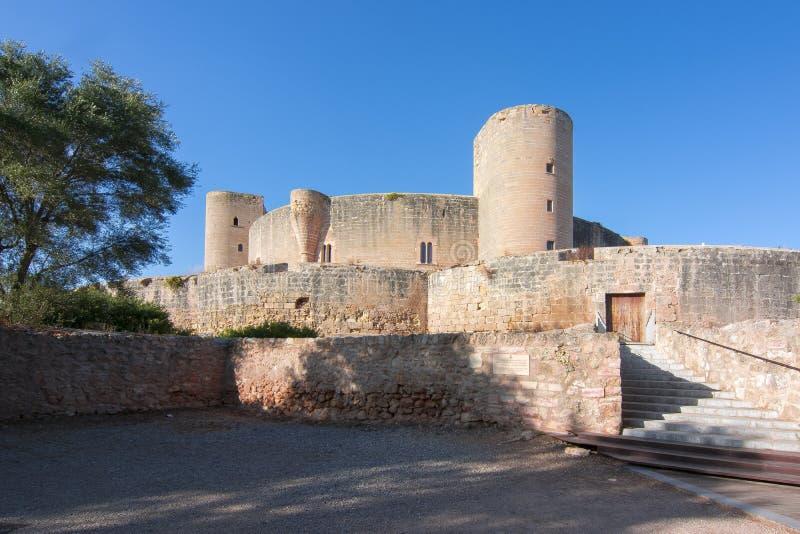 Castello di Bellver, Mallorca, Balearic Island, Spagna immagine stock libera da diritti
