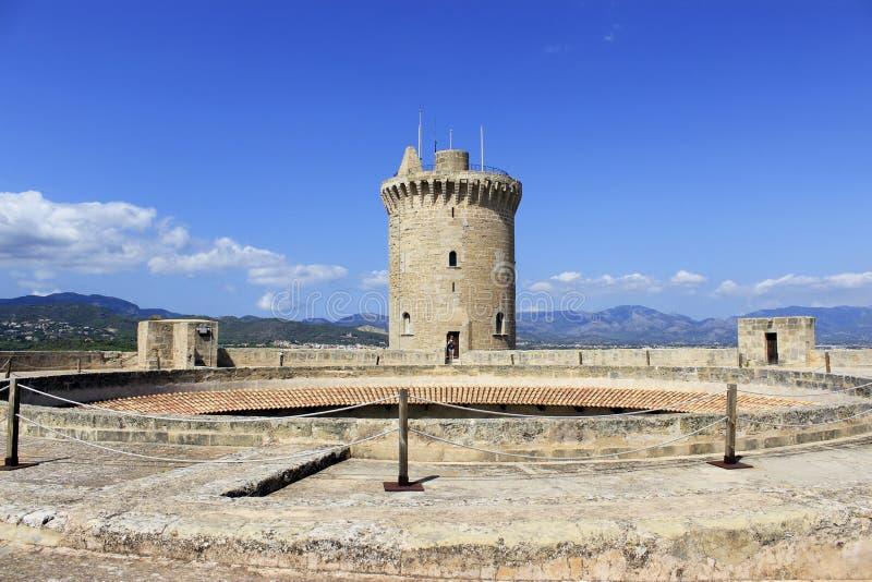 Castello di Bellver in Palma de Mallorca immagini stock