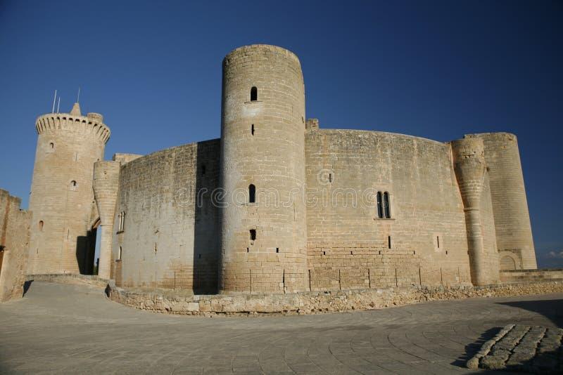 Castello di Bellver, Palma de Mallorca, Mallorca, Spagna immagini stock libere da diritti