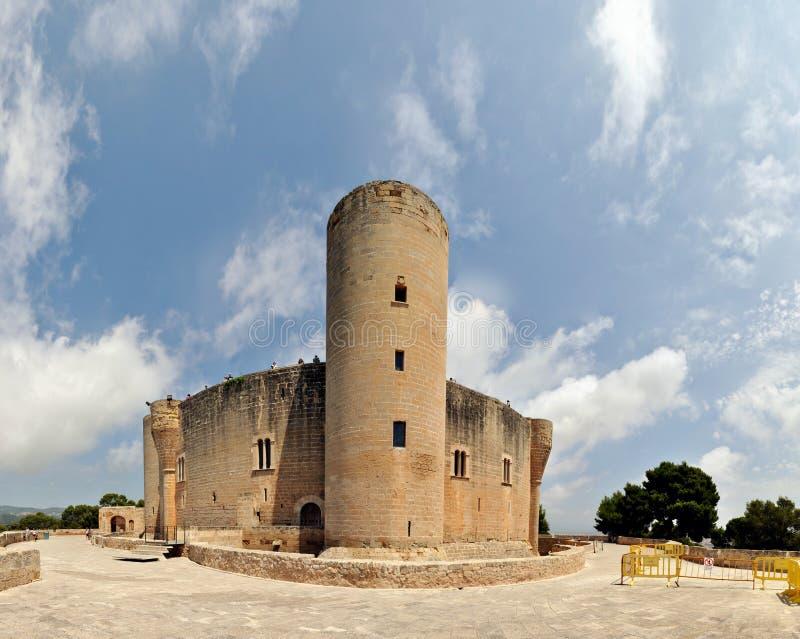 Castello di Bellver in Palma de Mallorca, Spagna immagine stock libera da diritti