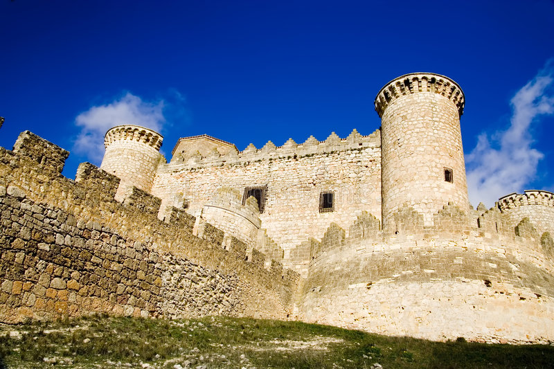 Castello di Belmonte fotografia stock libera da diritti