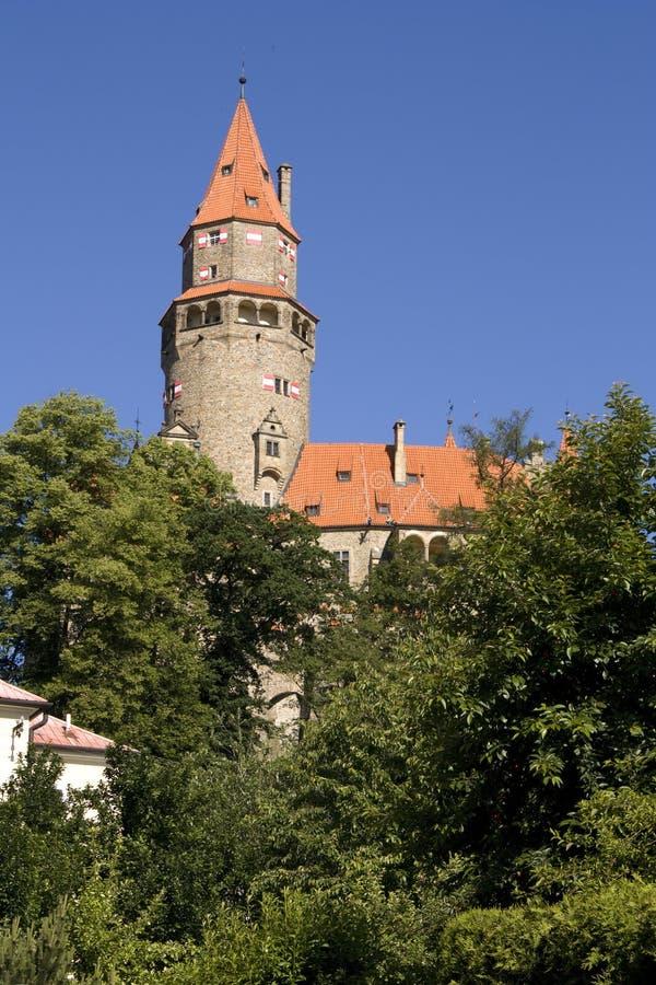 Castello di Bouzov immagini stock libere da diritti