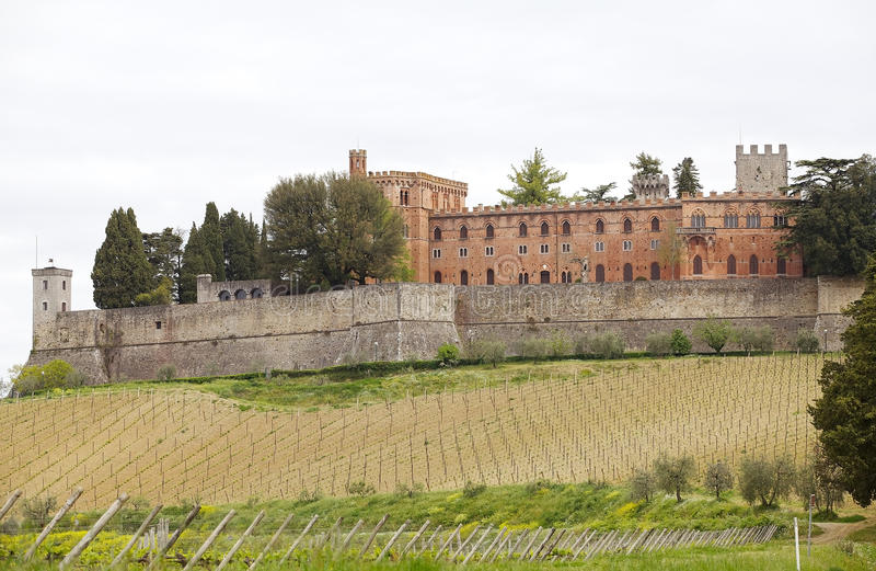 Castello di Brolio, Gaiole dans le chianti, Toscane, Italie photo libre de droits
