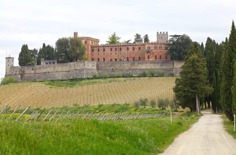 Castello di Brolio, Gaiole dans le chianti, Toscane, Italie images libres de droits