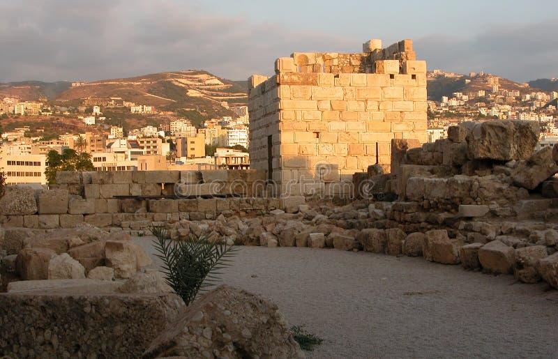 Castello di Byblos. fotografie stock libere da diritti