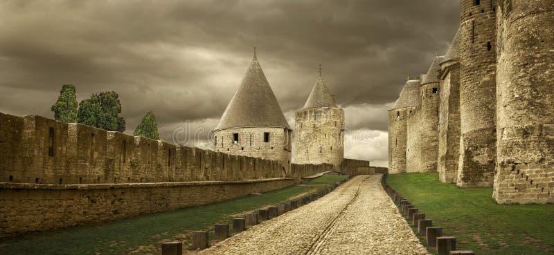 Castello di Carcassona fotografia stock libera da diritti