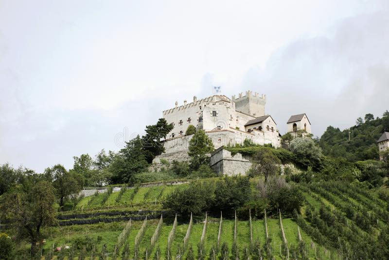 Castello Di Castelbello ή Schloss Kastelbell σε Val Venosta στην Ιταλία στοκ εικόνες
