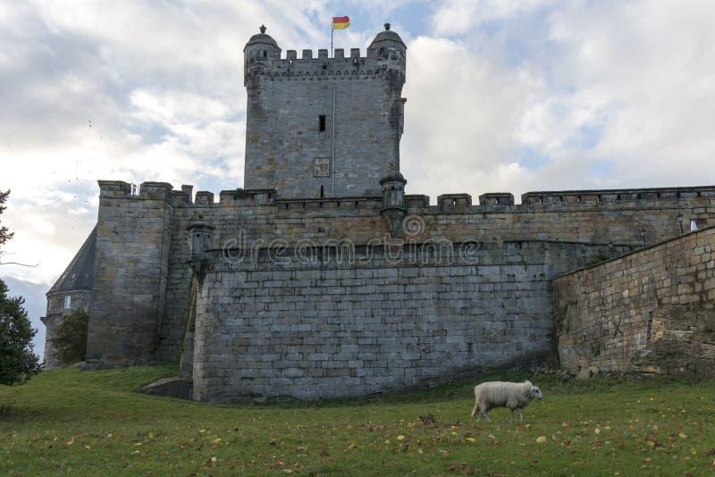 Castello di cattivo bentheim in Germania fotografie stock