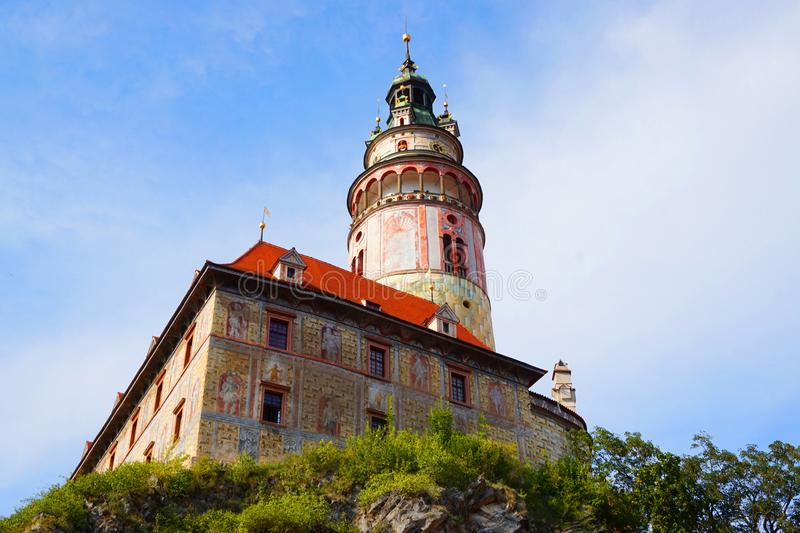 Castello di Cesky Krumlov in repubblica Ceca immagini stock libere da diritti