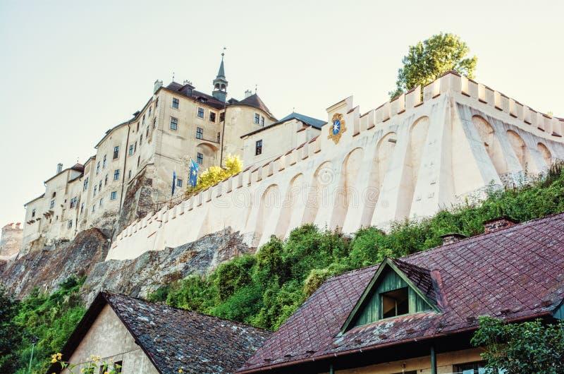 Castello di Cesky Sternberk, repubblica Ceca, destinazione di viaggio fotografia stock