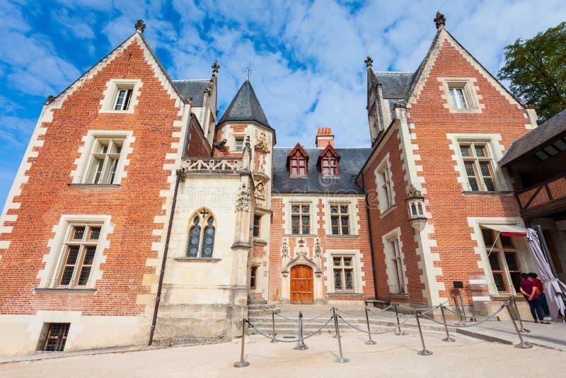 Castello di Clos Luce del castello, Amboise fotografia stock libera da diritti