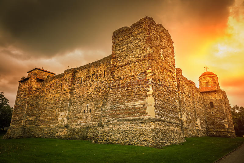 Castello di Colchester fotografia stock