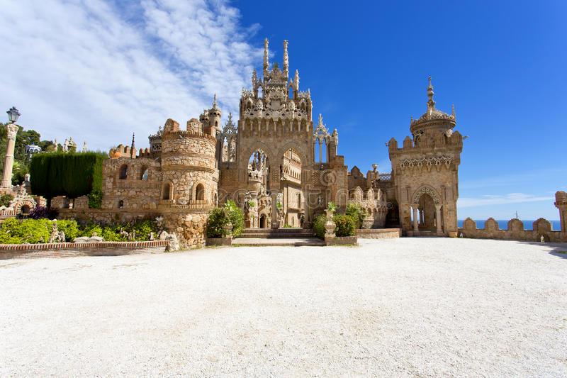 Castello di Colomares in memoria di Christopher Colomb a Benalmadena immagine stock