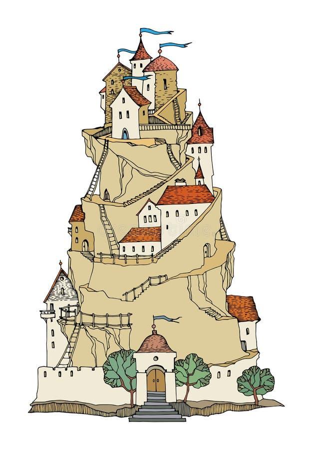 Castello di colore del fumetto royalty illustrazione gratis
