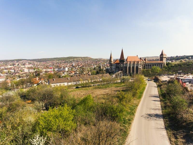 Castello di Corvin da Hunedoara fotografia stock