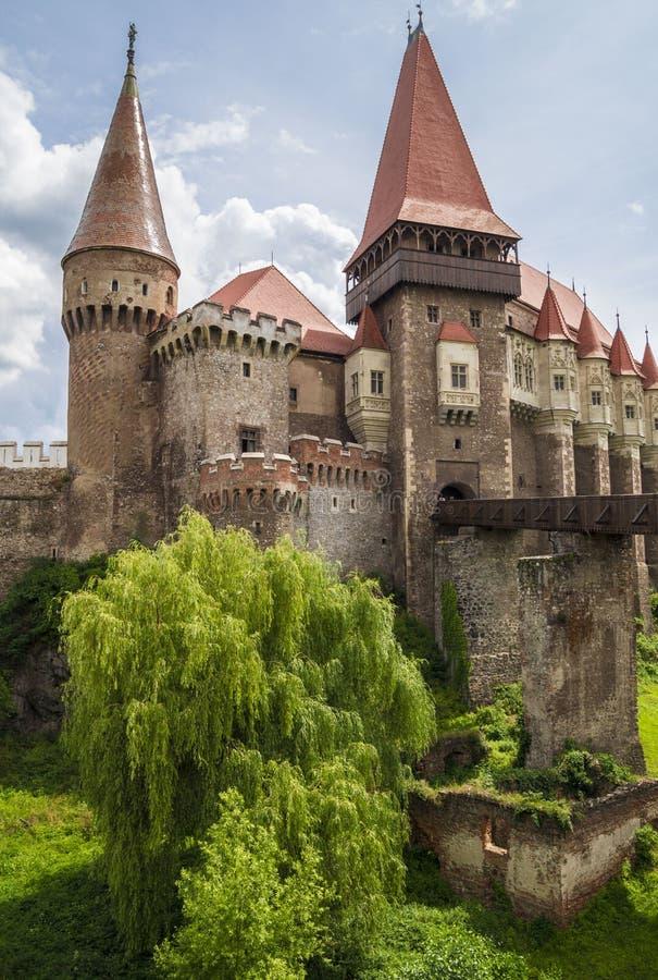 Castello di Corvin in Hunedoara, Romania immagine stock libera da diritti