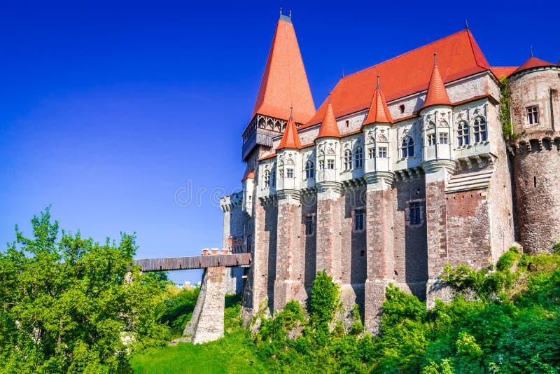 Castello di Corvin, la Transilvania in Romania fotografie stock libere da diritti