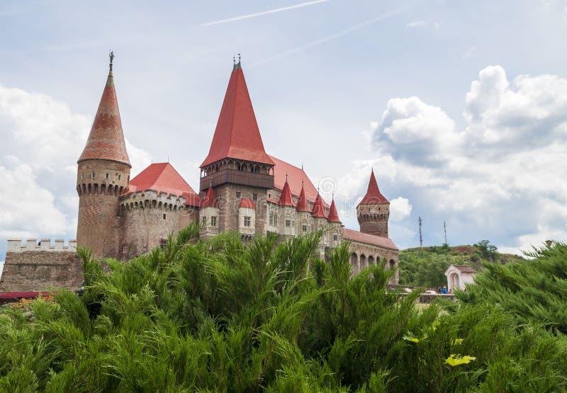 Castello di Corvin o castello di Hunyadi in Hunedoara, Romania fotografia stock