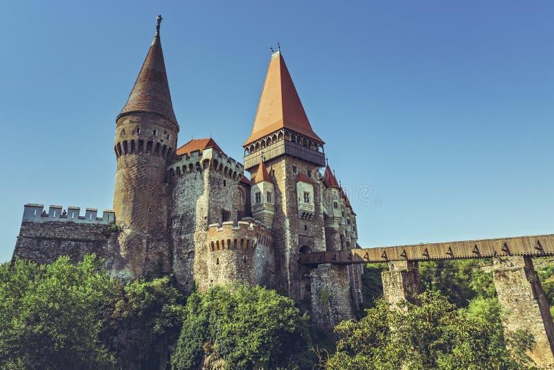 Castello di Corvin, Romania fotografia stock