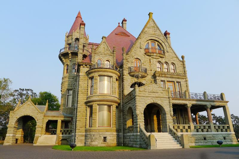 Castello di Craigdarroch, Victoria, Columbia Britannica fotografie stock libere da diritti