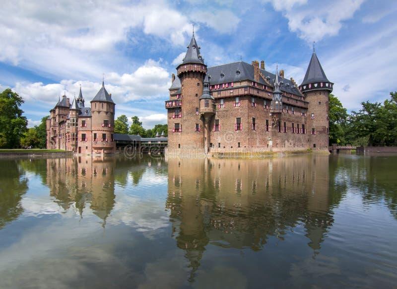 Castello di De Haar vicino ad Utrecht, Paesi Bassi fotografie stock libere da diritti