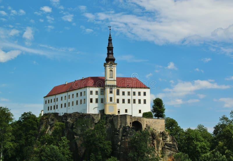 Castello di Decin in repubblica Ceca fotografie stock libere da diritti