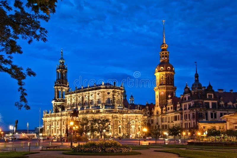 Castello di Dresda immagini stock