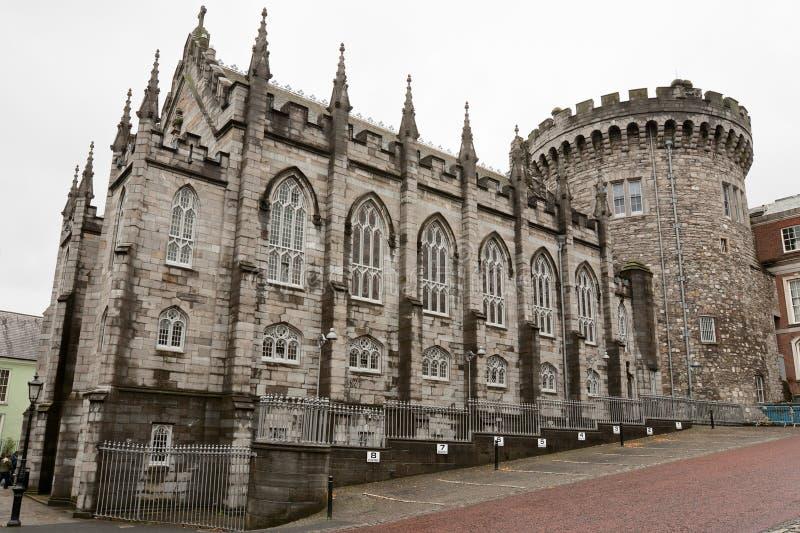 Castello di Dublino. L'Irlanda fotografie stock libere da diritti