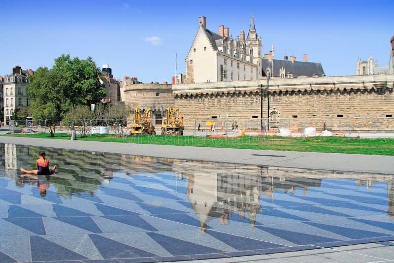 Castello di duchi di Bretagna, Nantes, Francia fotografia stock