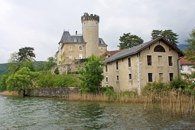 Castello di Duingt immagini stock libere da diritti