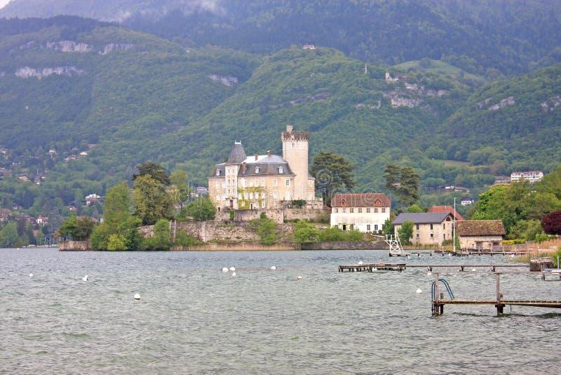 Castello di Duingt, lago Annecy fotografia stock libera da diritti