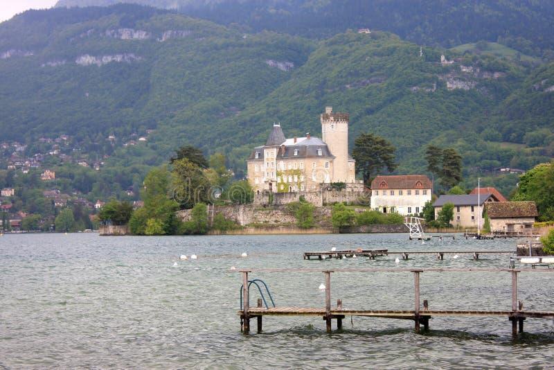 Castello di Duingt, lago Annecy immagini stock