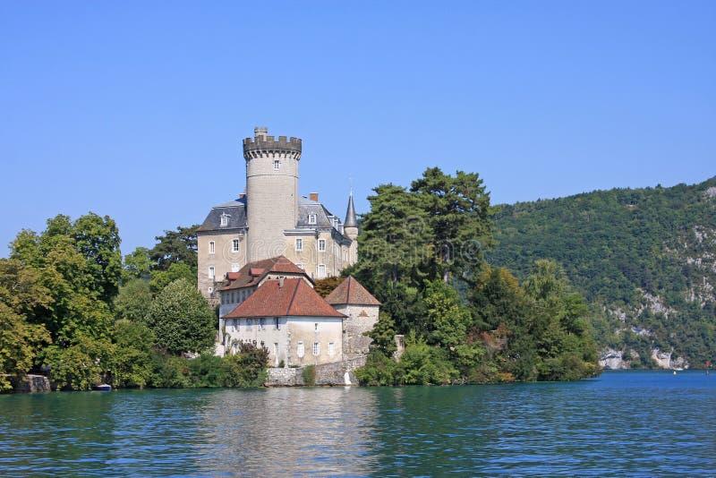 Castello di Duingt, lago Annecy fotografia stock