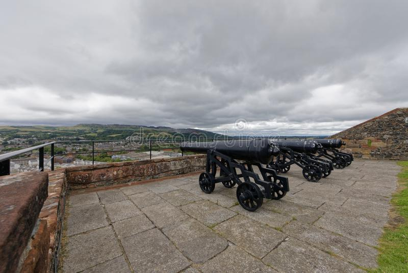 Castello di Dumbarton, Scozia fotografie stock