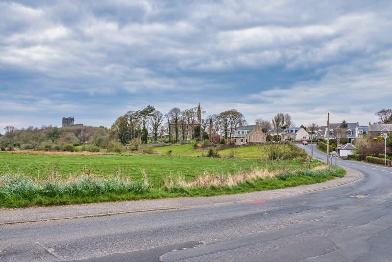Castello di Dundonald sotto l'ayrshire del sud Scozia di rinnovamento immagini stock