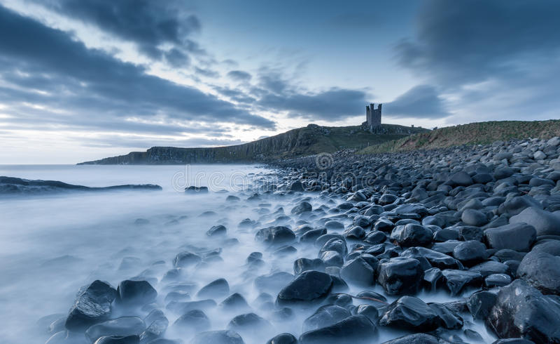 Castello di Dunstanburgh immagine stock