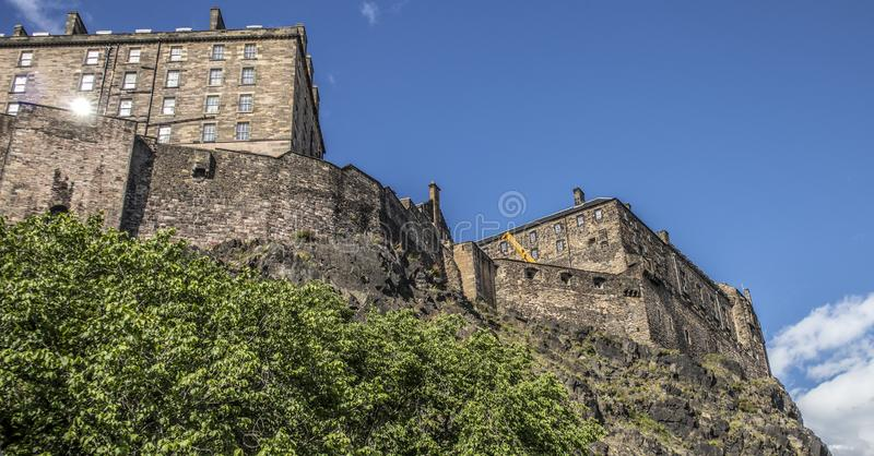 Castello di Edimburgo, sito storico Scozia immagine stock