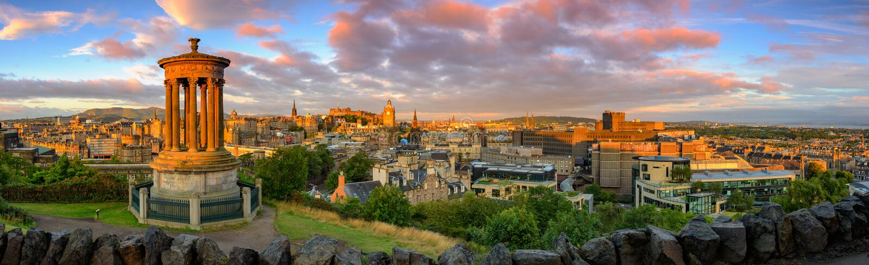 Castello di Edinburgh, Scozia fotografie stock libere da diritti