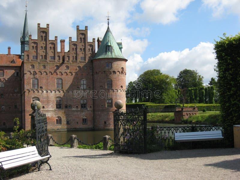 Castello di Egeskov fotografia stock libera da diritti