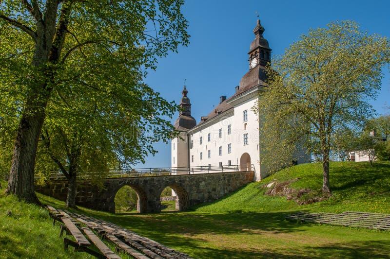 Castello di Ekenäs durante la molla in Svezia fotografia stock libera da diritti