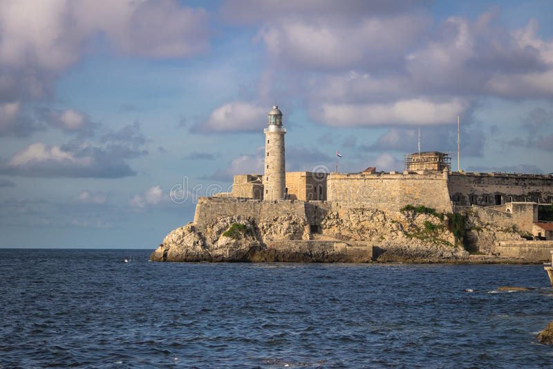 Castello di EL Morro - Avana, Cuba fotografia stock libera da diritti