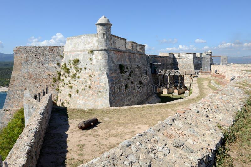 Castello di EL Morro a Santiago de Cuba fotografia stock libera da diritti