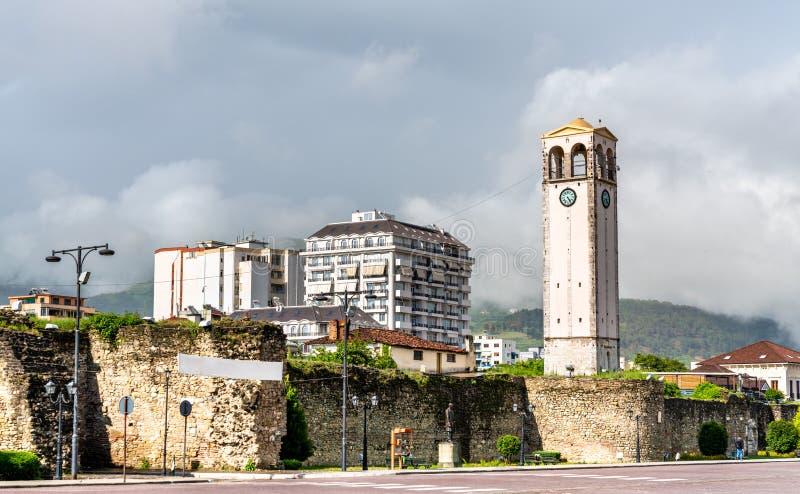 Castello di Elbasan in Albania immagini stock libere da diritti