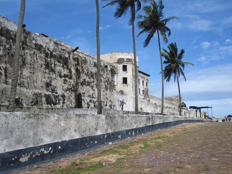 Castello di Elmina nel Ghana, Africa immagini stock libere da diritti