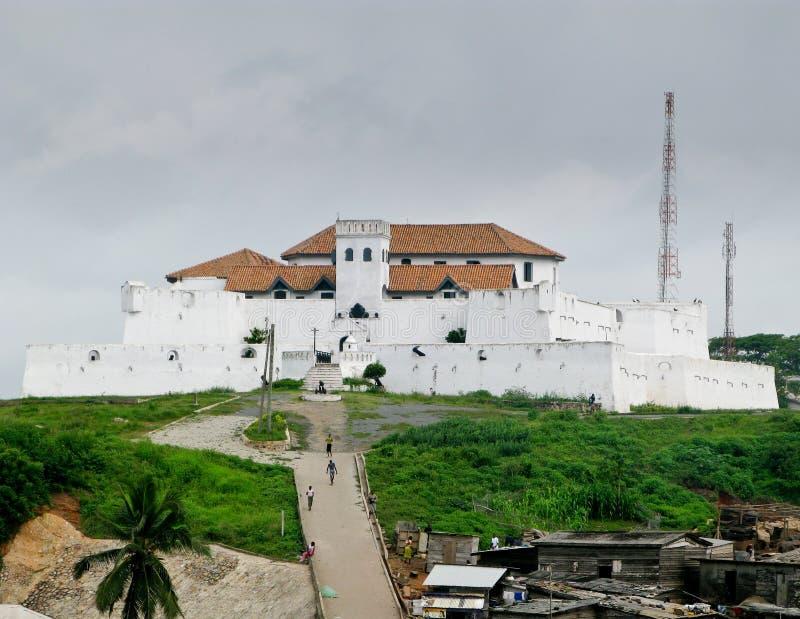 Castello di Elmina nel Ghana vicino ad Accra fotografia stock libera da diritti